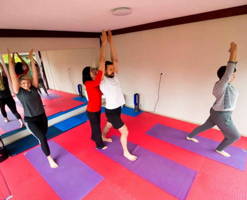Beim Yoga Unterricht in Damaschke.