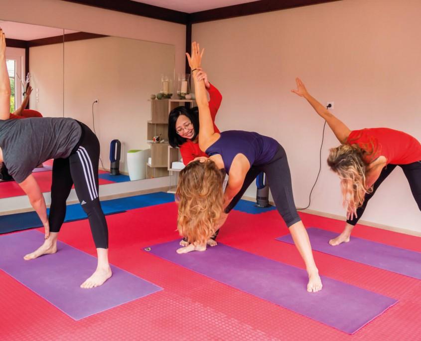 Flexible Unterrichts-Zeiten beim Yoga im emsländischen Lingen bei Thu Brüggemann.