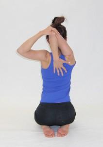 Japanische Yoga-Pose.